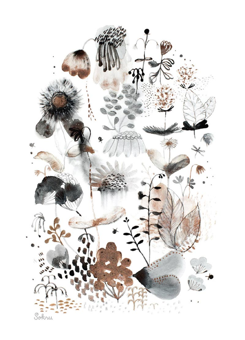 Sokru • Metallic Flowers