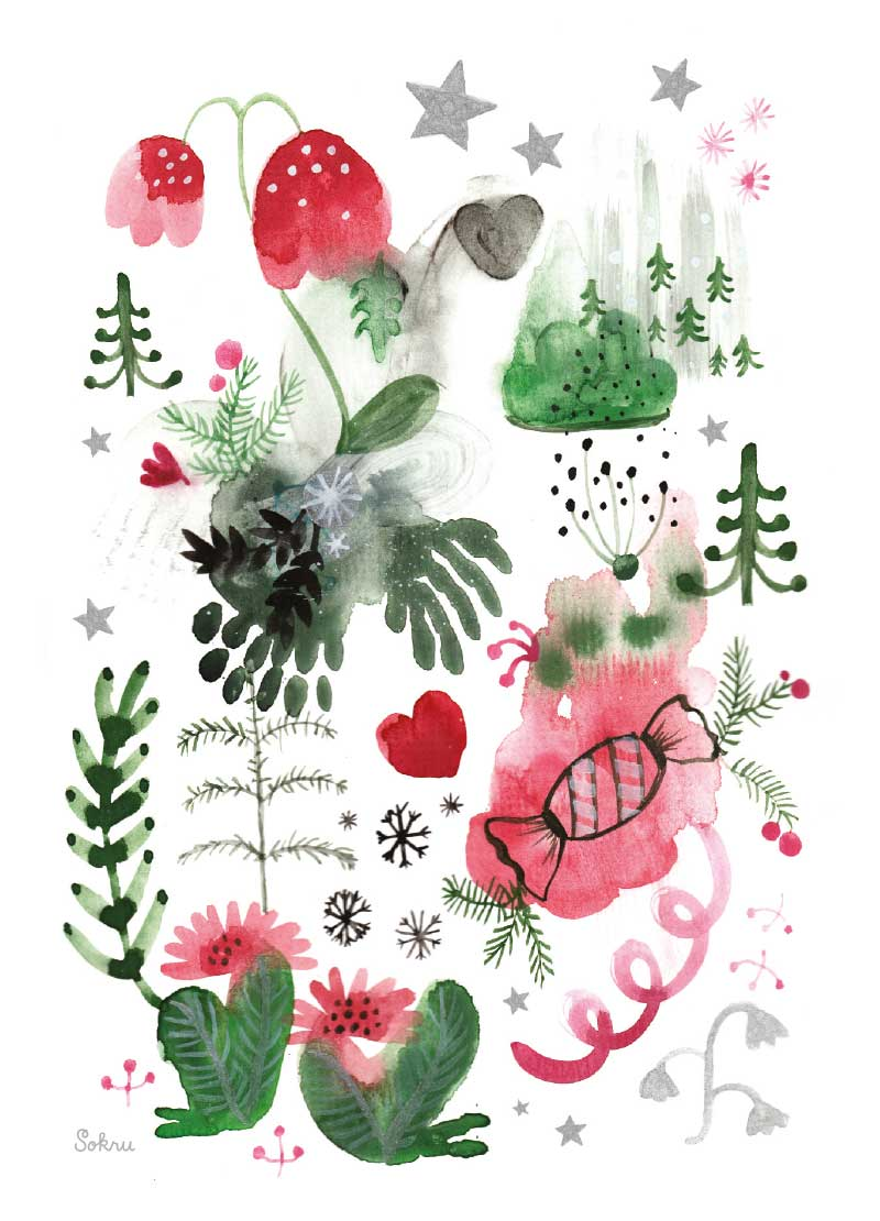Sokru • Joulukortti2