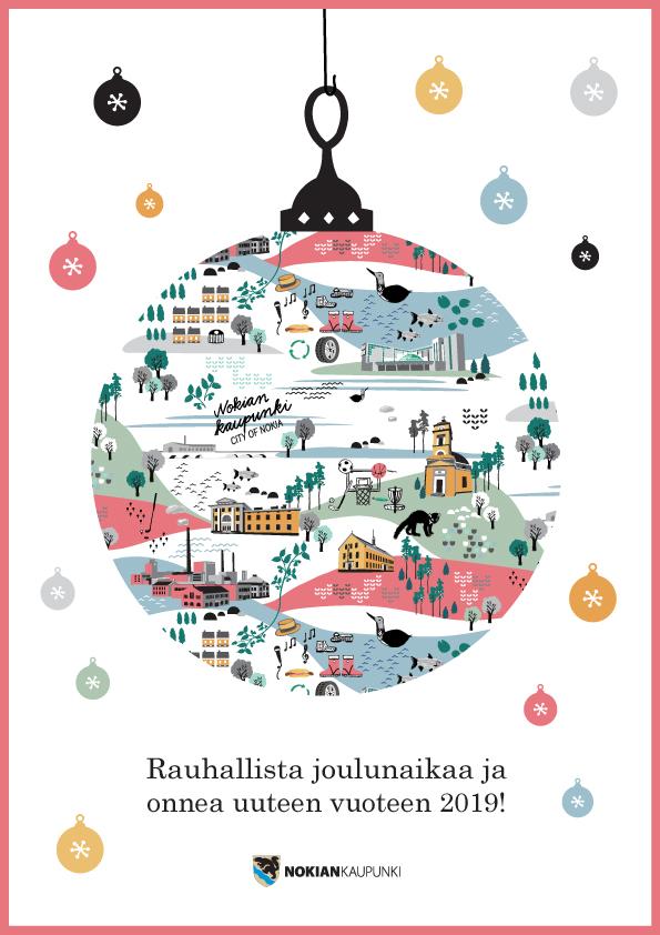 Sokru • Nokian Kaupunki Joulukortti 2018 2