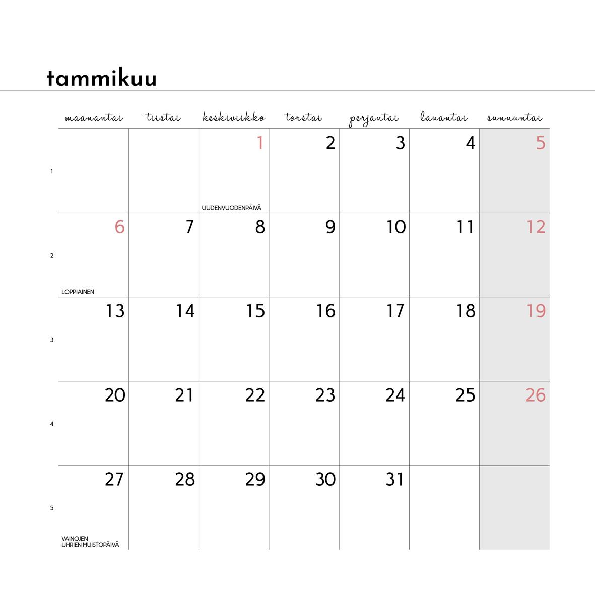 Sokru • Kalenteri 2020 Sokru 3