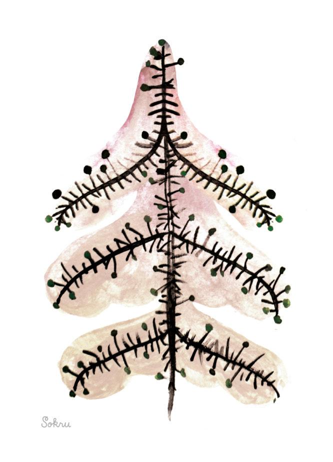 Sokru • Joulukuusi Vaaleanpunainen