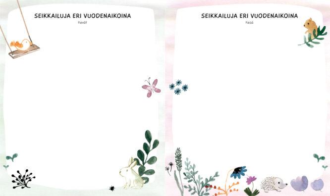 Sokru • Pienen Seikkailijan Kirja Vuodenajat Aukeama Outi Virtanen