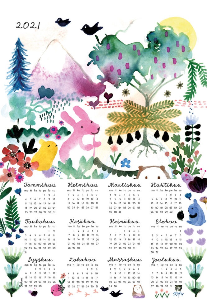 Sokru • Kalenterijuliste 50x70 Cm 1